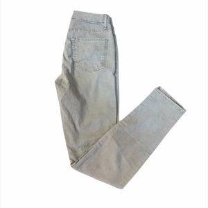 MOTHER Denim Brown Grey High Rise Skinny Jeans